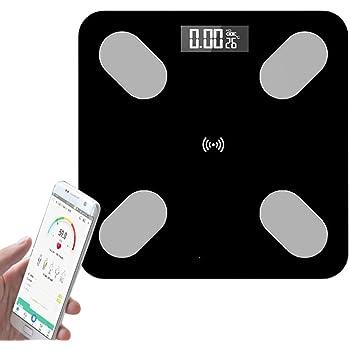 ZUMECA 体重計 体組成計 Bluetooth 体重秤 体脂秤 ヘルスメーター スマート スケール 体脂肪計 体水分率 体脂肪率 筋肉量 基礎代謝量 骨格筋率 内臓脂肪レベルBMIなど測定可能 スマホに同期分析 ランキング 体重計 連動 アプリ連携 iPhone/Android対応 健康管理 肥満の予防・改善(ブラック)