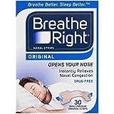 Breathe Right Breathe Right Small/Medium Nasal Congestion and Snoring Aid Strips, Original 30s, Original Small/Medium30 count