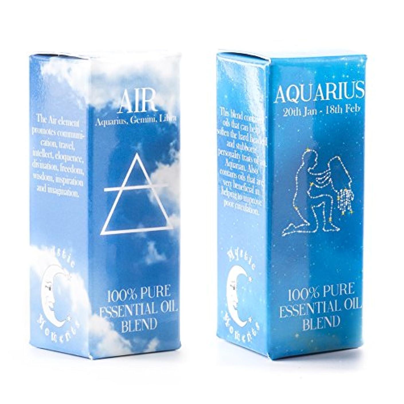 チートレベル隙間Mystic Moments | Air Element & Aquarius Zodiac Sign Astrology Essential Oil Blend Twin Pack (2x10ml)