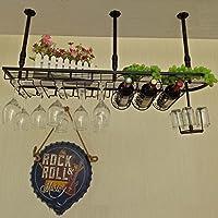 ヨーロピアン・バー・ワイン・ラック上下反転ホーム・ハンギング・モダニズム・ガラス・ホルダーブラック、ホワイト、ブロンズ(60cm、80cm、100cm)
