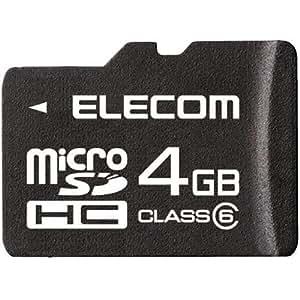 ELECOM class6対応 microSDHCメモリーカード/4GB MF-MRSDH04GC6