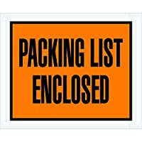 Ship Now Supply SNPL10 Packing List Enclosed Envelopes 4 1/2 x 5 1/2 5width 4.5 Length Orange (Pack of 1000) [並行輸入品]