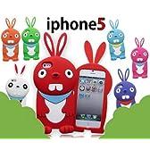 iphone5 3D出っ歯ウサギ シリコンケース カバー うさぎ ラビット 兎2569WH
