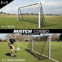 [クイックプレイ] マッチコンボ リバウンダー兼用 2WAY サッカーゴール 2.4×1.5m 組み立て式 UPVC製 全天候型 折りたたみ可能 MC8
