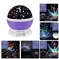 子供用ライト、VSOAIR Starry Night Lightランプ3モードStar Projector Light(パープル)