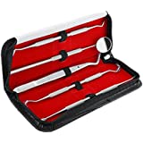 Dental Tools Kit, LuckyFine Professional Stainless Steel Oral Care Kit, Dental Set Hygiene Tools, Dental Cleaning Tools Kit for Home Use, Dental Kits for Adults, Oral Care