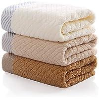 シュー(Shooo) フェイスタオル 瞬間吸水 速乾 ふんわり 肌触りが優しい タオル コットン100% 人気 安い 敏感肌 洗面用品 家庭用 3枚セット33×72cmサイズ