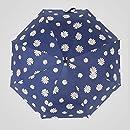 傘小さなデイジー傘三つ折り傘抗UV折りたたみ日傘の女の子日焼け止め黒プラスチック雨と雨傘