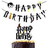 Awyjcas Harry Potter Happy Birthday Banner Party Supplies Happy Birthday Cake Topper Felt Garland Party Decoration