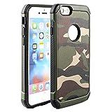 Fogeek iPhone6ケース  4.7インチ ク 迷彩柄 カモフラージュ柄 TPUとPC二重保護 耐衝撃 ミリタリー かっこいい (グリーン)