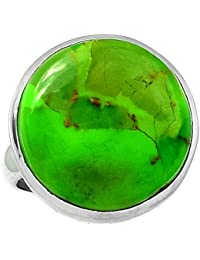 LoveGem Green Mohave Turquoise ターコイズ ,シルバー925リング ,サイズ :13.5,