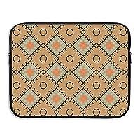 d-muse抽象幾何Coloredパターンポータブル防水ネオプレンノートパソコンスリーブバッグカバーMacbook Pro、Macbook Air、ノートブック 15 Inch D-MUSE-15582525