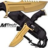 Call Of Duty Ghosts MTECH USA Knife Xtreme Gold Tactical Military Combat 11in