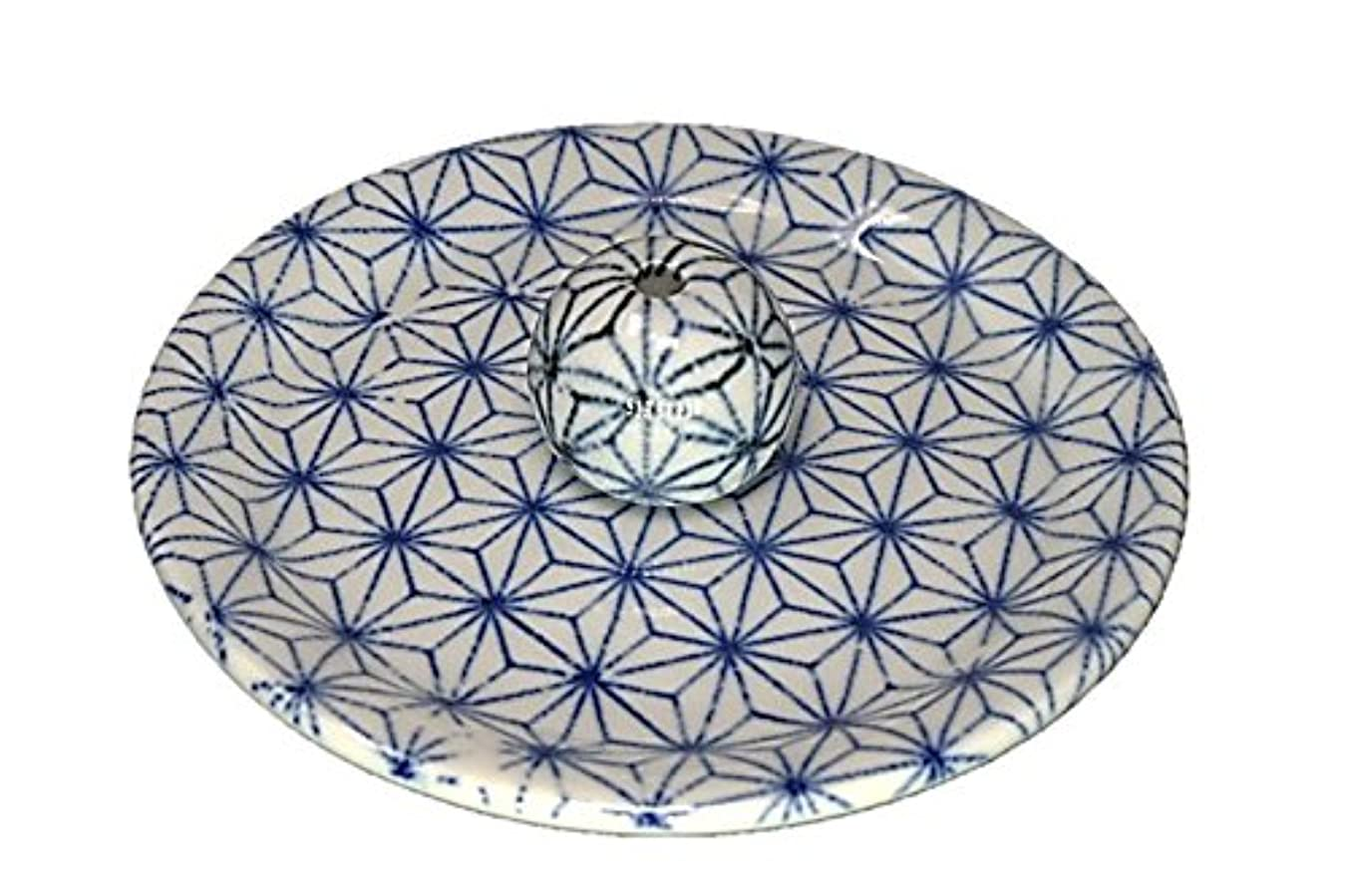 焦げひもナラーバー9-53 麻葉 お香立て 9cm香皿 お香たて 陶器 日本製 製造?直売品