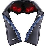 Naipo 首マッサージャー ネック・ショルダーマッサージ 器 ヒーター付き 首・肩・腰・背中・太もも 肩こり ストレス解消 家庭用&職場用&車用 温熱療法