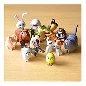 14 PCs The Secret Life of Pets PVC Figure Movie Toy Collection Gift [並行輸入品]