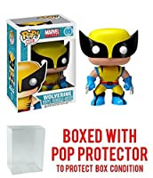 Funko Pop Marvel Wolverine Vinyl Figure Bundled with Free Pop BOX PROTECTOR CASE