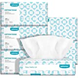 Ultra-Soft Baby Dry Wipes 100% Pure Cotton 600 Counts Super Strong & Resuable Face Towel & Makeup Removal DIY Cotton Wipes & Wet and Dry Dual-use Perfect for Sensitive Skin and Baby Care