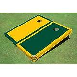 イエローコーン穴とダークグリーンAltボーダーボードCornhole Game Set