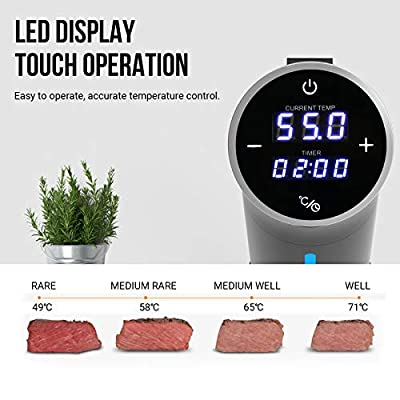AUCMA Sous Vide Precision Cooker Powerful Immersion Circulator with Accurate Temperature Control Digital Timer Display