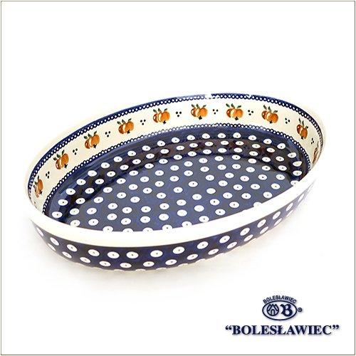 [Zaklady Ceramiczne Boleslawiec/ザクワディ ボレスワヴィエツ陶器] グラタン皿(オーバル)-479 ポーリッシュポタリー