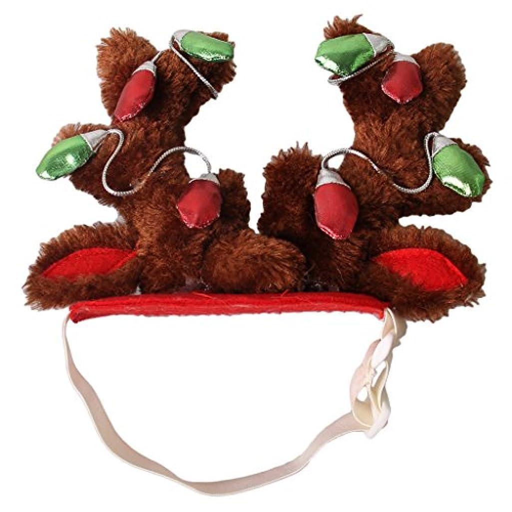 密輸またはどちらかトラフSONONIA 全2サイズ 調節可能 ペット 犬 猫 帽子 髪 フープ クリスマス 衣装 - M