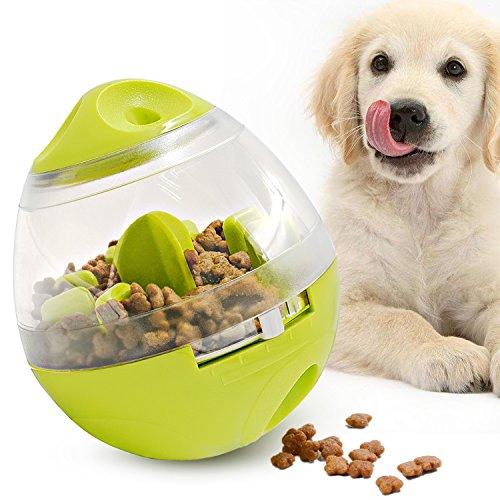 LEFON 猫犬用 ペット用品 早食い防止 餌入れ食器 おやつボール ペット おもちゃ 知育玩具 アンチチョーク スローフード お留守番に 倒れないエッグ型 小中大型犬に適用