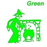 魔女&鍋 緑 カッティングステッカー ウォールステッカー ステッカー シール カッティングシート