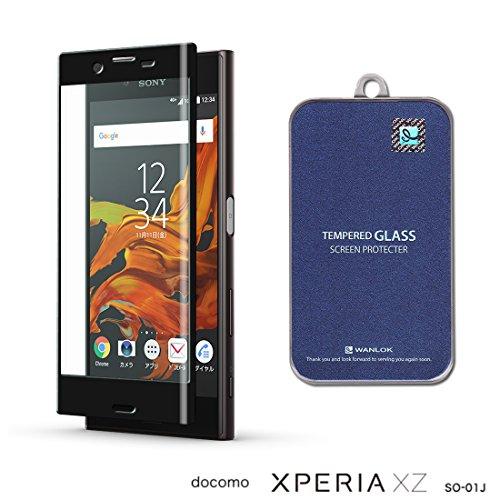 WANLOK 改善版 Sony Xperia XZ softbank au SOV34 docomo SO-01J 5.2インチ 3D フルカバー ガラスフィルム 実機確認済 NSG 日本板硝子社 国産ガラス採用 液晶保護 フィルム 0.3mm 9H ラウンドエッジ 指紋防止 90日保証付 simフリー スマートフォン スマホ 国内正規流通品 XperiaXZ Black