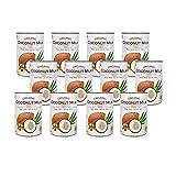 有機JAS認定 オーガニックココナッツミルク 400ml 缶 無添加/無着色/無保存剤/BPAフリー ココナツミルク (12缶)
