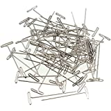 Plussign T Pins Wig Making Tools Wig Pins 50 Pieces Stainless Steel T-Pins 38Mm/1.5Inch Block Hair Tool