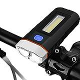 Qiilu 自転車ライト 自転車前照灯 LEDヘッドライト USB充電式 超高輝度 超強力 明るい 5モード IP65防水 防塵 防災