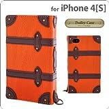 オウルテック iPhone4/4S専用フラップタイプトロリーケース オレンジ DCI-4TR-OR