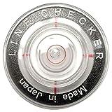 高精度&薄型水平器付ボールマーカー ラインチェッカーライト ターゲット付き (黒)
