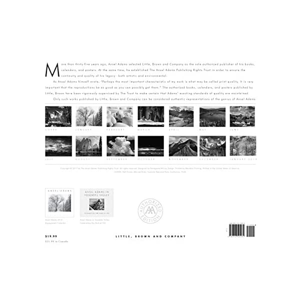 Ansel Adams 2018 Wall C...の紹介画像2