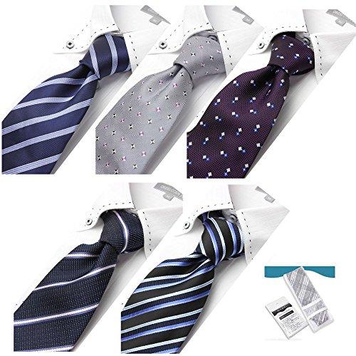 【dresscode101】8セットから選べるネクタイ5本&洗濯用ネットセット ビジネス用