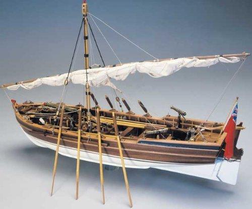 1079 輸入木製帆船模型 マンチュア モデル パナルト 748 1800年武装ランチ