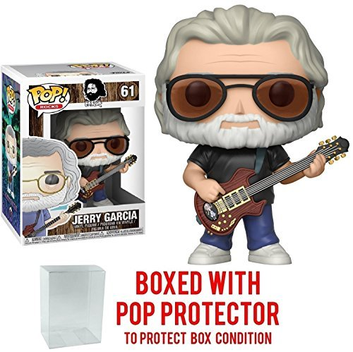 Funko POP MUSIC : Jerry Garcia Collectible Vinyl Figure + Popプロテクター