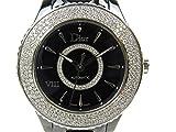 [クリスチャン・ディオール] Dior ユイット Ⅷ 3重ダイヤベゼル サークルダイヤモンド ウォッチ 腕時計 レディース ブラック セラミック x ダイヤモンド CD1235E1 [中古]