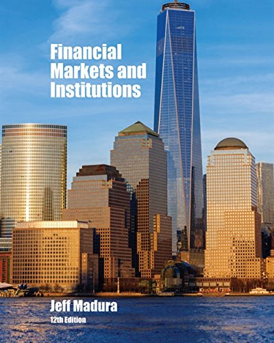 Download Financial Markets and Institutions 1337099740
