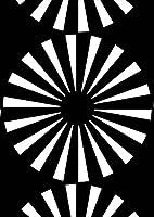 igsticker ポスター ウォールステッカー シール式ステッカー 飾り 515×728㎜ B2 写真 フォト 壁 インテリア おしゃれ 剥がせる wall sticker poster 012464 丸 柄 モノトーン