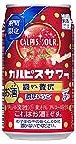 【季節限定】「カルピスサワー」濃い贅沢濃厚いちご 缶 [ チューハイ 350ml×24本 ]