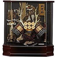 五月人形 兜ケース飾り 六角真田 オルゴール付 アクリルケース飾り GOFO-165-719 藤翁作