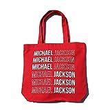 生誕60周年 MICHAEL JACKSON マイケルジャクソン - Signature and Logo/トートバッグ 【公式/オフィシャル】
