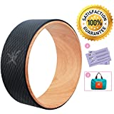 Yoga Wheel - Strongest Most Comfortable Dharma Yoga Prop Wheel for Yoga Poses, Perfect Roller For Stretching, Increasing Flexibility and Improving Backbends