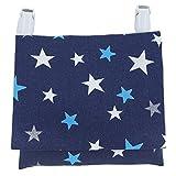 移動ポケット 紺×星柄 男の子 女の子 どこでもポケット ポケットティッシュ付 ハンドメイド 日本製