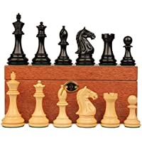Fierce Knight Stauntonチェスセットin Ebonized Boxwood withマホガニーボックス – 3