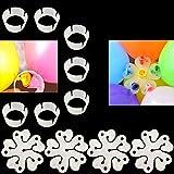 cspring 100個装飾クリアバルーンアーチクリップと花型バルーンクリップウェディングパーティー用by