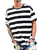 ジョーカーセレクト(JOKER Select) Tシャツ メンズ 半袖 ボーダー ビッグTシャツ ビッグシルエット ロング クルーネック FREE ホワイト(1)