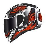 オージーケーカブト(OGK KABUTO) バイクヘルメット フルフェイス KAMUI2 HUMMER(ハマー) フラットブラック/レッド (サイズ:L) 569198